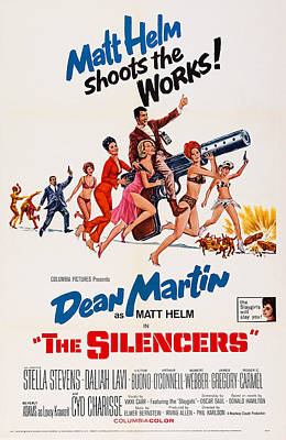 Dean Martin Poster Photograph - The Silencers, Us Poster, Victor Buono by Everett