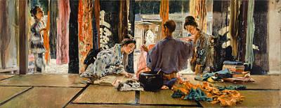 The Silk Merchant. Japan Art Print