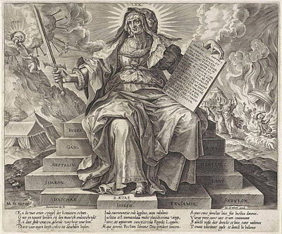 Tabernacle Painting - The Silver Age The Law Of The Old Testament by Hieronymus Wierix And Jacob De Weert