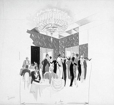 Party Digital Art - The Silver Room Of The Casino In Central Park by William Bolin
