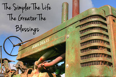 John Deere Photograph - The Simple Life by Heather Allen
