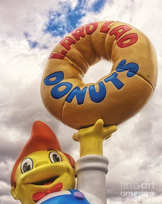 The Simpsons Lard Lad Donuts Boy Art Print by Edward Fielding