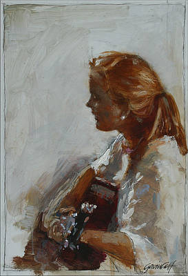 Painting - The Singer by Gavin Calf