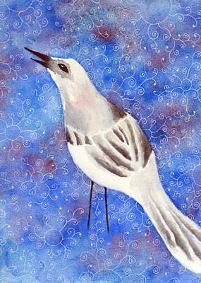 Mockingbird Mixed Media - The Singer by Sarah Rosedahl
