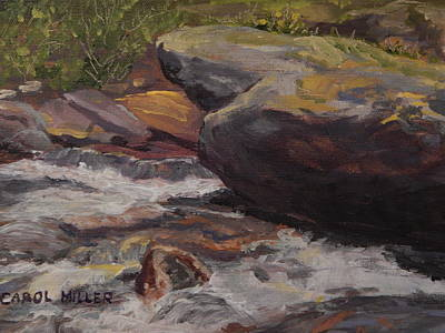 Painting - The Singing Brook by Carol L Miller