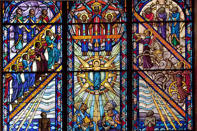 Photograph - The Singing Windows Stain Glass At Tuskegee University by Carol M Highsmith