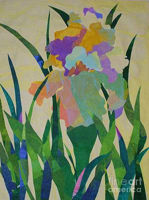 Mixed Media - The Single Iris by Diane Miller