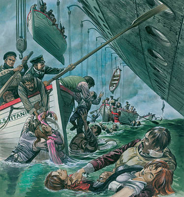 Lost At Sea Painting - The Sinking Of The Titanic by Peter Jackson