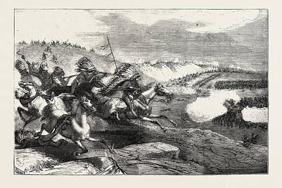 Sioux Drawing - The Sioux War In America A Troop Of Indians Charging by American School