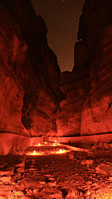 Nabatean Photograph - The Siq -- Petra by Stephen Stookey