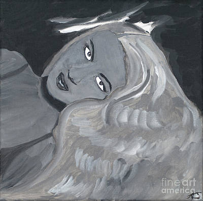 Black History Painting - The Siren  by Katy  Scott