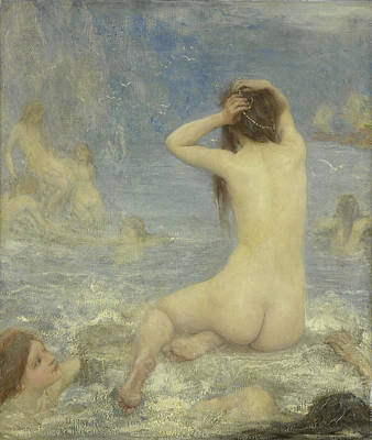 Siren Drawing - The Sirens, John Macallan Swan by Litz Collection