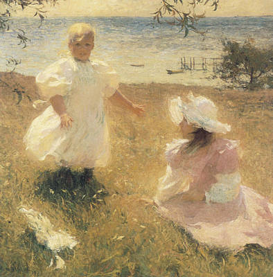 Impressionism Painting - The Sisters by Frank Benson