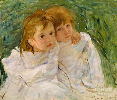 Cassatt Painting - The Sisters by Mary Cassatt