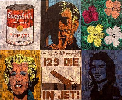 Painting - The Six Warhol's by Brent Andrew Doty
