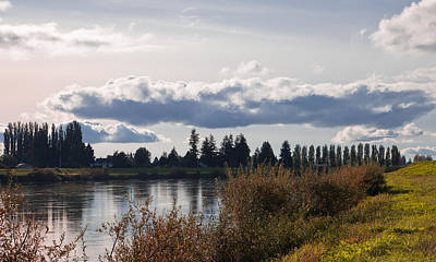 Plowed Fields Photograph - The Skagit River In Mount Vernon Washington by David Patterson