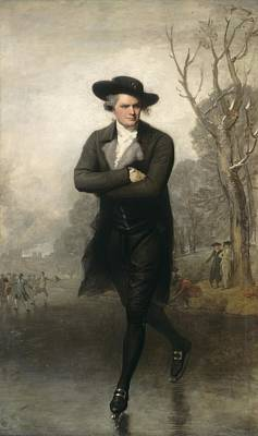 Skating Painting - The Skater Portrait Of William Grant by Gilbert Stuart
