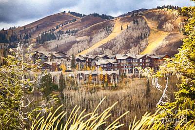 Ski Painting - The Ski Resort by David Millenheft