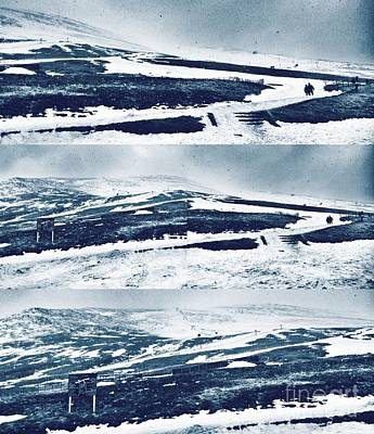 Photograph - The Ski Slopes Of Ben Nevis Collage 2 by Joan-Violet Stretch
