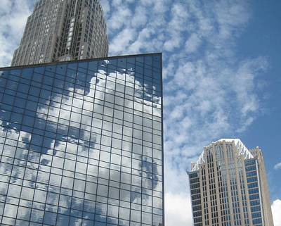Photograph - The Skies Hidden Within Skyscrapers by Melissa McCrann