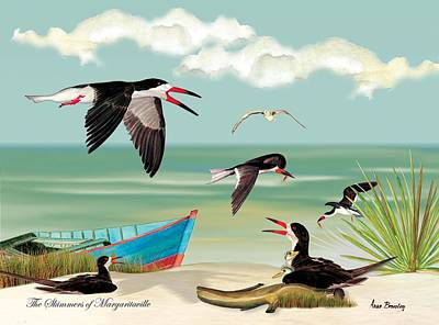 Painting - The Skimmers Of Margaritaville by Anne Beverley-Stamps