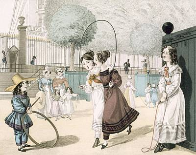 Hoops Drawing - The Skipping Game, Plate 115 From Le by French School