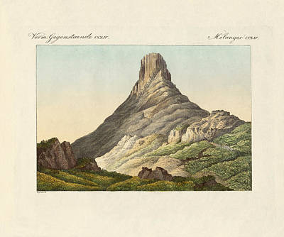 Mountain View Drawing - The Skuir On The Egg Island by Splendid Art Prints