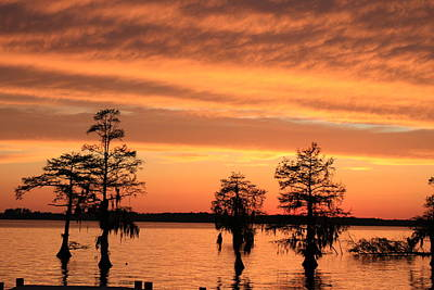 The Sky At Sunset Art Print by Carolyn Ricks