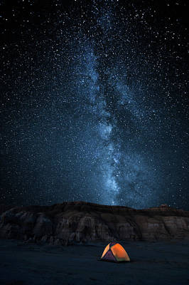 Milky Way Wall Art - Photograph - The Sky Is My Blanket by John Fan
