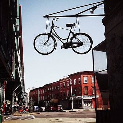 Bicycle Photograph - The Sky Is The Limit... #nyc by Vivienne Gucwa