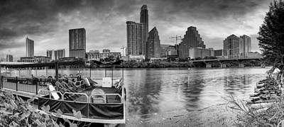 Lady Bird Lake Photograph - The Sky Is Will Be Crying Austin Texas Skyline by Silvio Ligutti