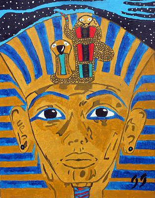 Death Valley Drawing - The Sky Pharaoh by Jeff Harris