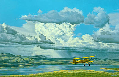 The Sky-stearman Biplane Art Print by Paul Krapf