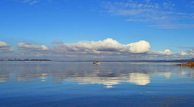 Photograph - The Sky The Lake And The Boat by Rima Biswas