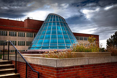 Terrell Photograph - The Skylight Dome On Terrell Plaza - Wsu by David Patterson