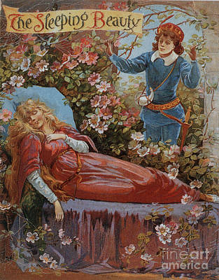 Nineteen-tens Drawing - The Sleeping Beauty 1910s Uk Fairy by The Advertising Archives