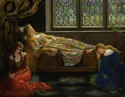 The Sleeping Beauty Art Print by John Collier