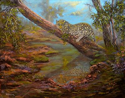 Fineart Painting - The Sleeping Cheetah by Michael Mrozik