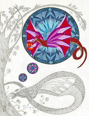 Drawing - The Sleeping Dragon by Dianne Levy