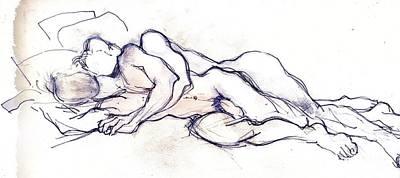 Painting - The Sleepy Boys by Carolyn Weltman