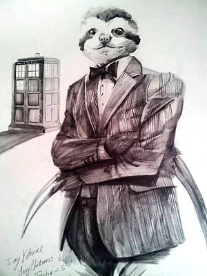 11th Doctor Drawing - The Sloth Doctor by Neal Cormier