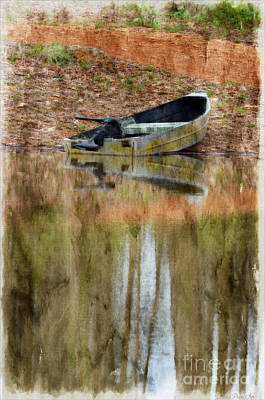Photograph - The Small Boat Photoart II by Debbie Portwood