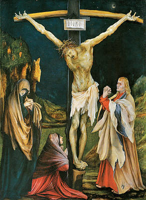 Christ On Cross Painting - The Small Crucifixion by Matthias Grunewald