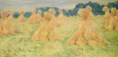 The Small Haystacks Art Print by Claude Monet