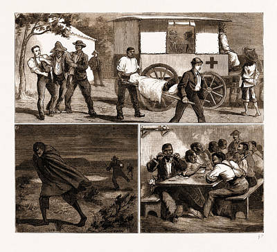 Small Town Drawing - The Small Pox Epidemic At Cape Town Sketches by Litz Collection