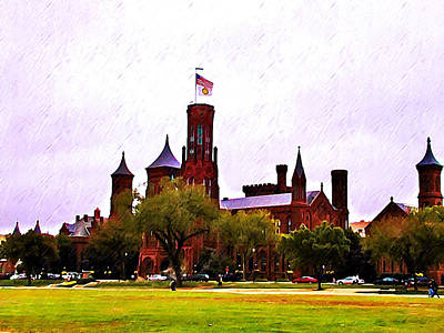 Smithsonian Museum Digital Art - The Smithsonian by Bill Cannon