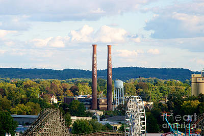 Photograph - The Smoke Stacks Stand Resolute  by Mark Dodd