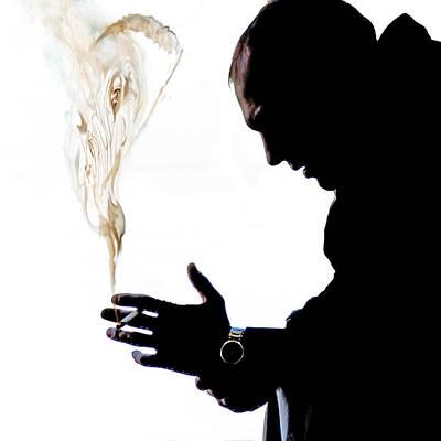Digital Art - The Smoker by Rick Mosher