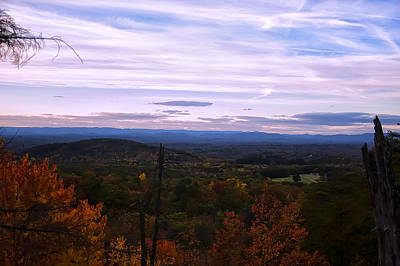 The Smokey Mountains From Hanging Rock State Park Art Print by Chris Flees