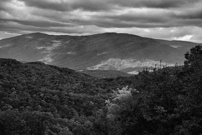 The Smokies In Black And White Print by Dan Sproul